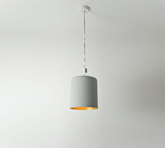 Duzzle lampadario bin cemento oro in es artdesign