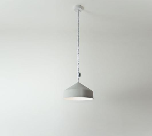 Duzzle lampadario cyrcus cemento bianco in es artdesign