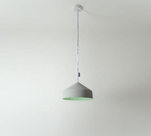 Duzzle lampadario cyrcus cemento verde in es artdesign