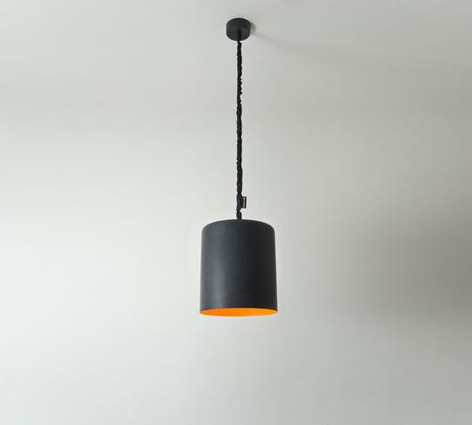 Duzzle lampadario bin lavagna arancio in es artdesign