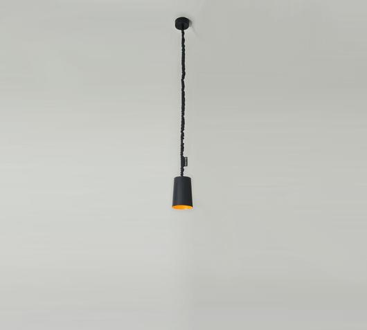 Duzzle lampadario paint lavagna nero arancione in es artdesign