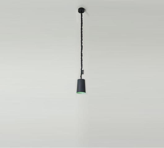 Duzzle lampadario paint lavagna nero turchese in es artdesign