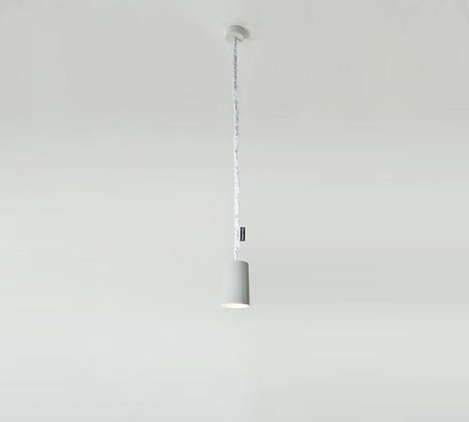 Duzzle lampadario paint cemento bianco in es artdesign
