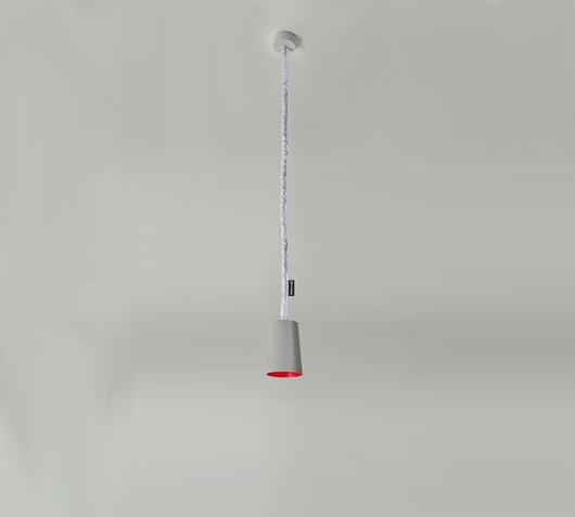 Duzzle lampadario paint cemento rosso in es artdesign