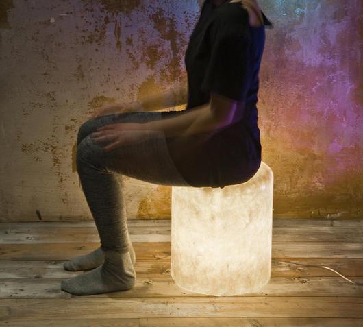 Duzzle bin f nebula nebulite in es artdesign lampada da terra seduta pouf luminoso lampada da giardino