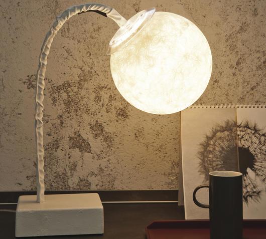 Duzzle lampada da tavolo in es artdesign micro t luna bianco on