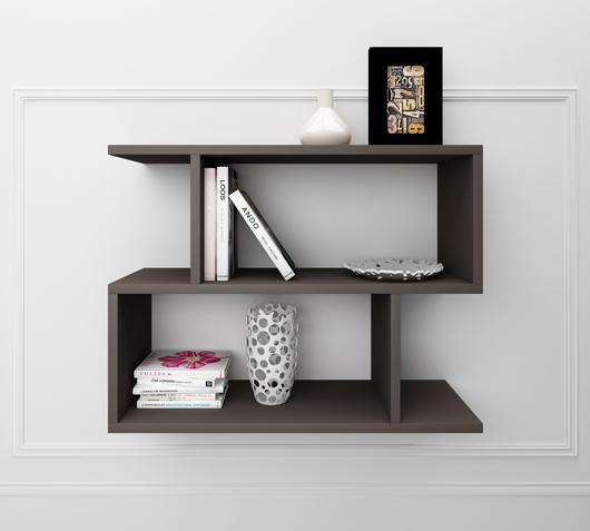 Duzzle scaffali legno grigio design twist librerie fronte
