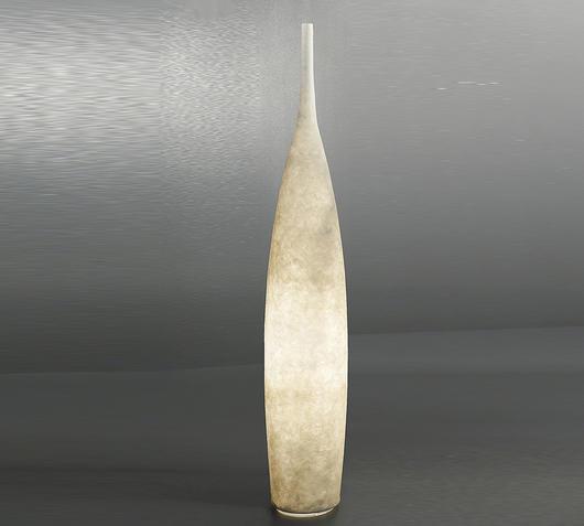 Duzzle in es artdesign tank 1 lampada da terra nebulitebianco