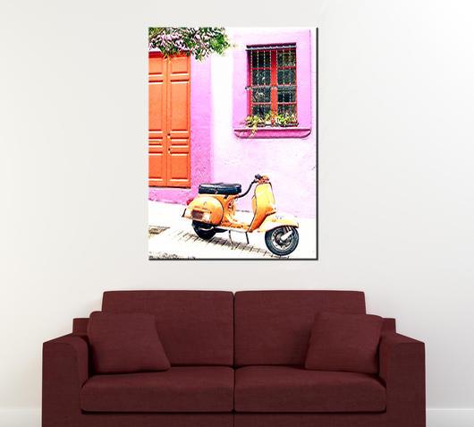 Duzzle canvas la vespa stampa su tela 110x80
