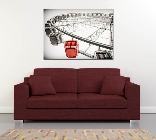 Duzzle canvas stampa su tela ruota panoramica 110x80