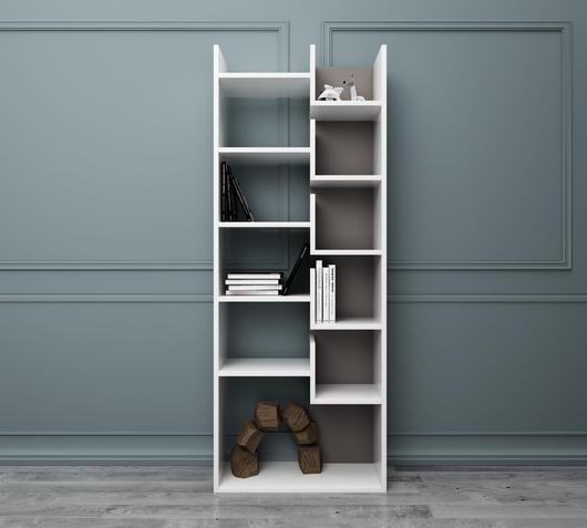 Duzzle libreria scaffali legno bianco design twist living fronte