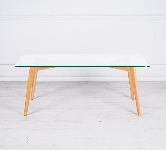 Duzzle tavolino da salotto legno vetro het022