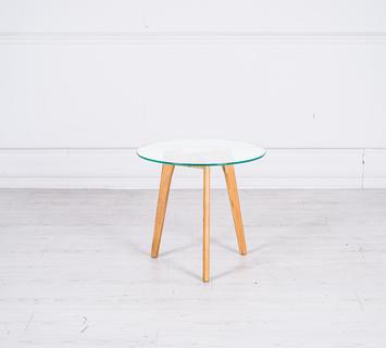Duzzle tavolino rotondo vetro het021