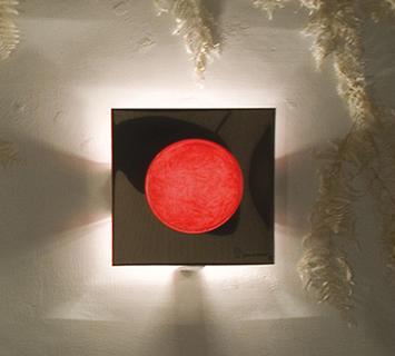 Duzzle in es artdesign washmachine 1 lampada applique rosso