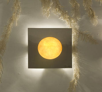 Duzzle in es artdesign washmachine 2 lampada applique arancione