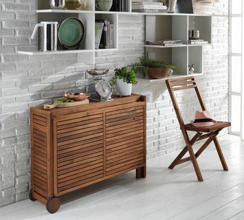 Duzzle consolle tavolo allungabile set quattro sedie legno