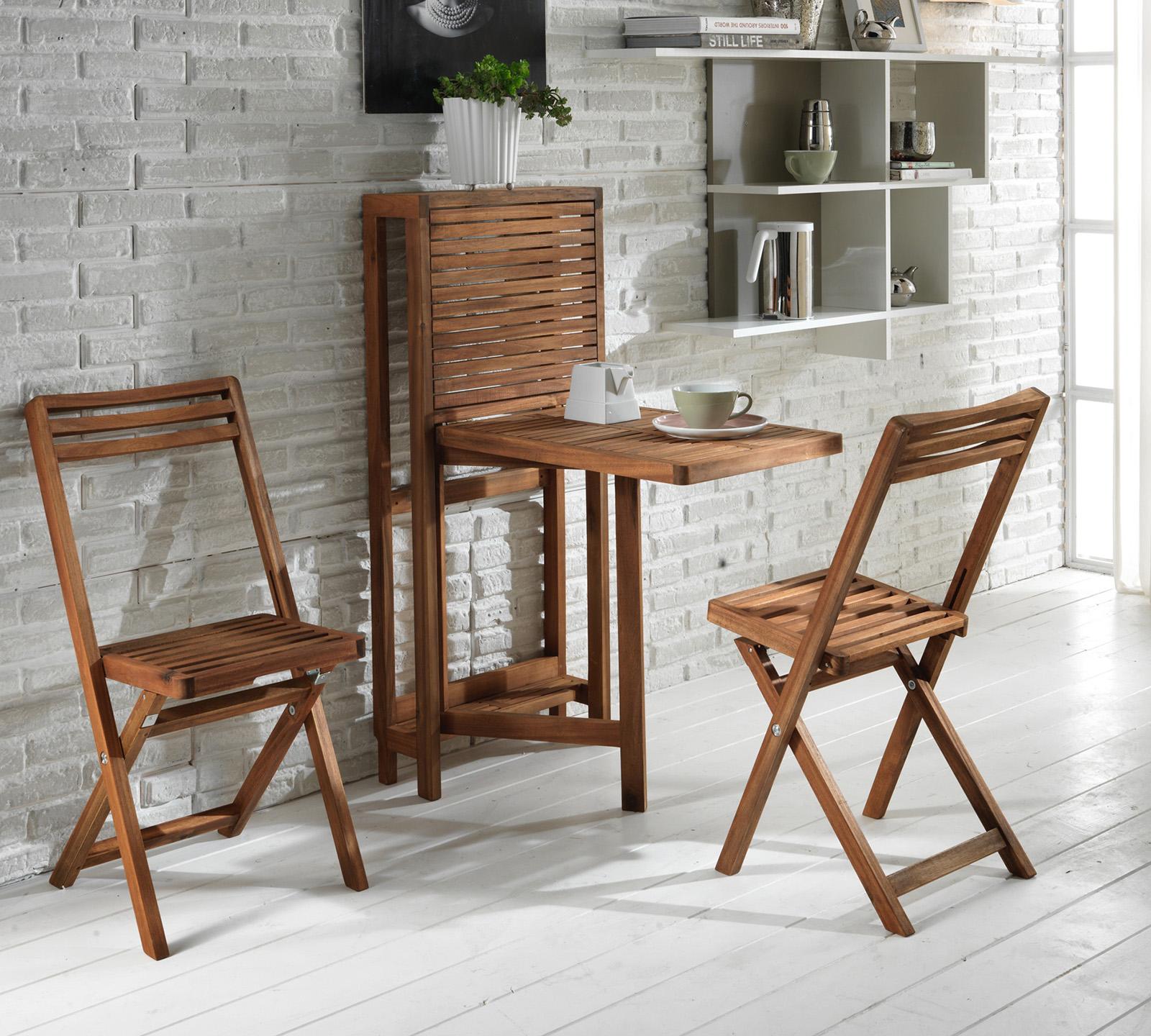 set con tavolo piccolo richiudibile e 2 sedie | duzzle - Sedie Da Soggiorno In Legno 2