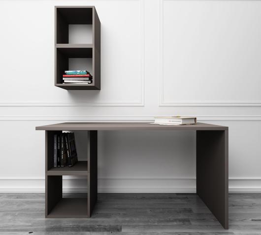Duzzle scrivania grigia design twist studio libreria fronte