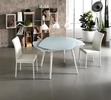 Duzzle tavolo kyoto quattro bianco stones apertura