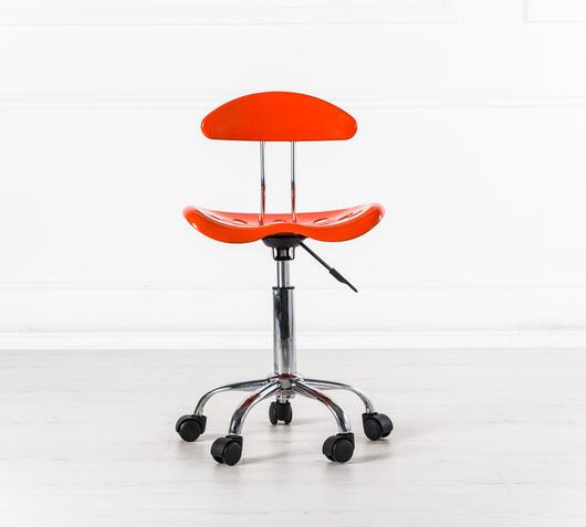 Duzzle sedia ufficio titti con ruote plastica arancio stones fronte