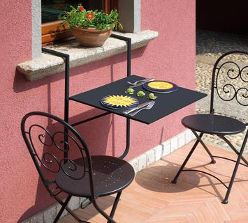 Duzzle greenwood tavolo richiudibile pieghevole grigio antracite ferro tavolo per balcone rtf19