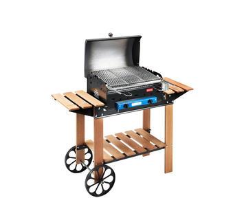 Duzzle ferraboli barbecue barbeque legno ghisa art. 52 griglia