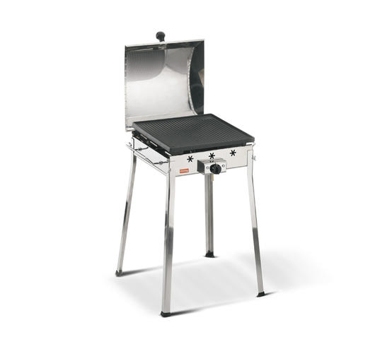 Duzzle griglia barbeque barbecue ghisa griglia a gpl barbeque con coperchio art. 91