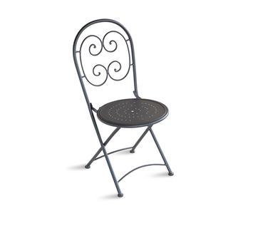 Duzzle greenwood sedia orta chf 08 pieghevole sedia in ferro grigio antracite