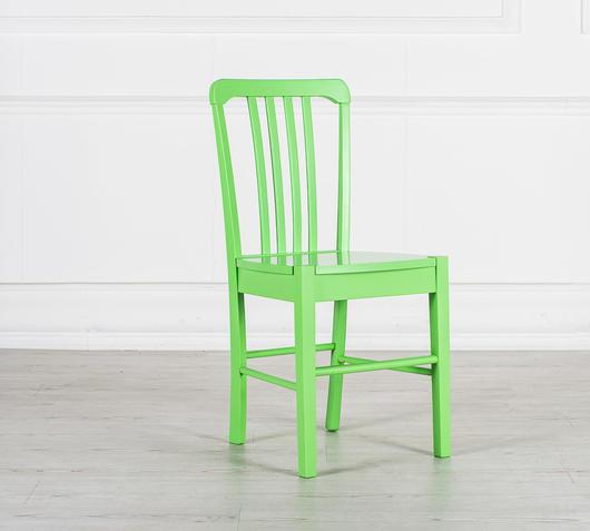 Duzzle sedia legno colorato verde stones