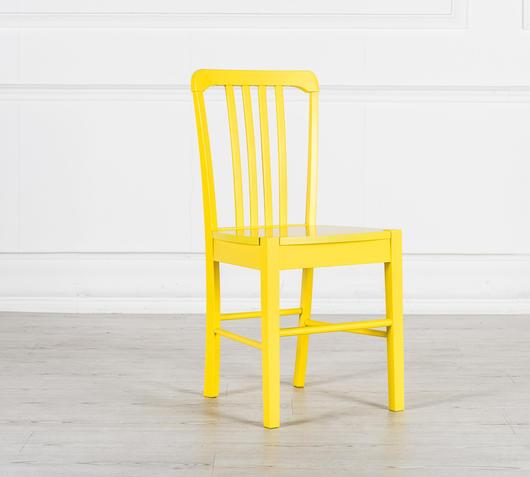 Duzzle sedia legno colorato giallo stones
