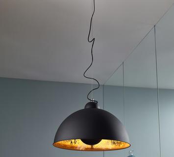 Duzzle lampadario antenna nero oro stones