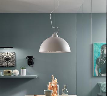 Duzzle lampadario antenna bianco argento stones