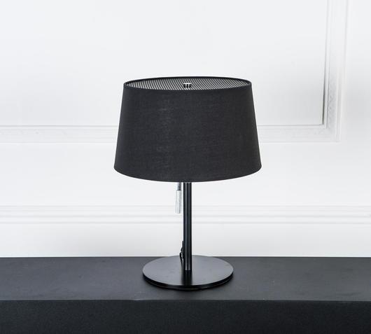 Duzzle lampada da tavolo nera stones illuminazione spenta