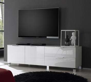 Duzzle porta tv eros laccato bianco lucido flow fusion design
