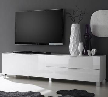 Duzzle porta tv ares laccato bianco lucido flow fusion design