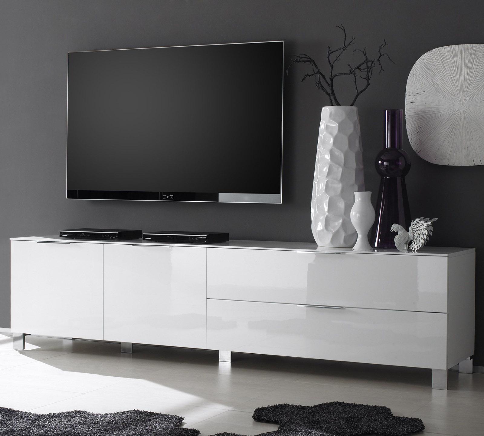 Mobile Tv Bianco Lucido.Porta Tv Ares Duzzle