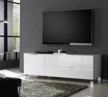 Duzzle porta tv orfeo laccato bianco lucido flow fusion design