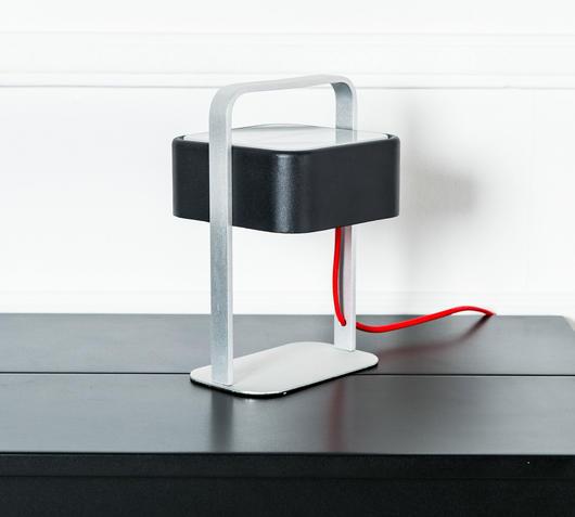 Duzzle lampada da tavolo colore nero stones illuminazione spento