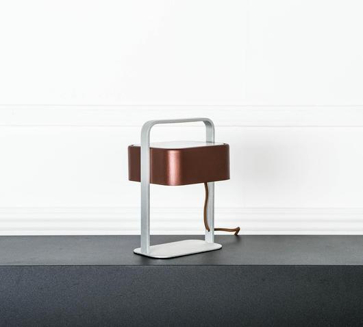 Duzzle lampada da tavolo colore marrone stones illuminazione spento