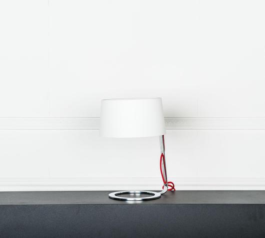 Duzzle lampada da tavolo bianca stones