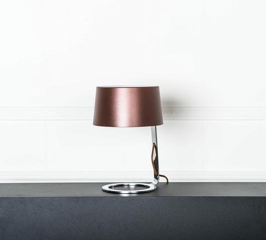 Duzzle lampada da tavolo metallo marrone stones illuminazione spenta