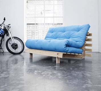 Duzzle divano letto roots karup azzurro due posti b