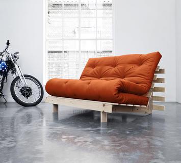 Duzzle divano letto roots karup arancione due posti