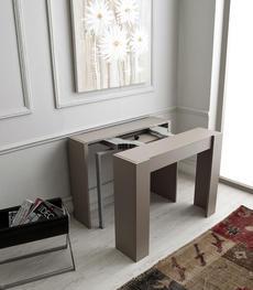 Tavolo consolle allungabile Adam frassino bianco | Duzzle