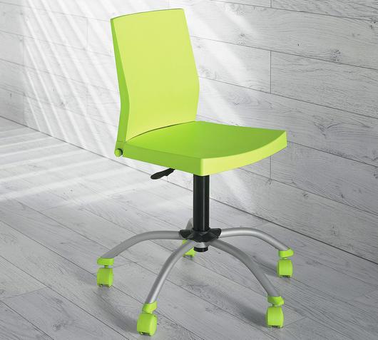 Duzzle sedia con rotelle rossa per ufficio stones