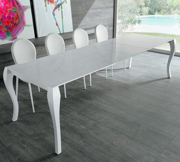 Duzzle tavolo allungabile colore bianco stones fronte