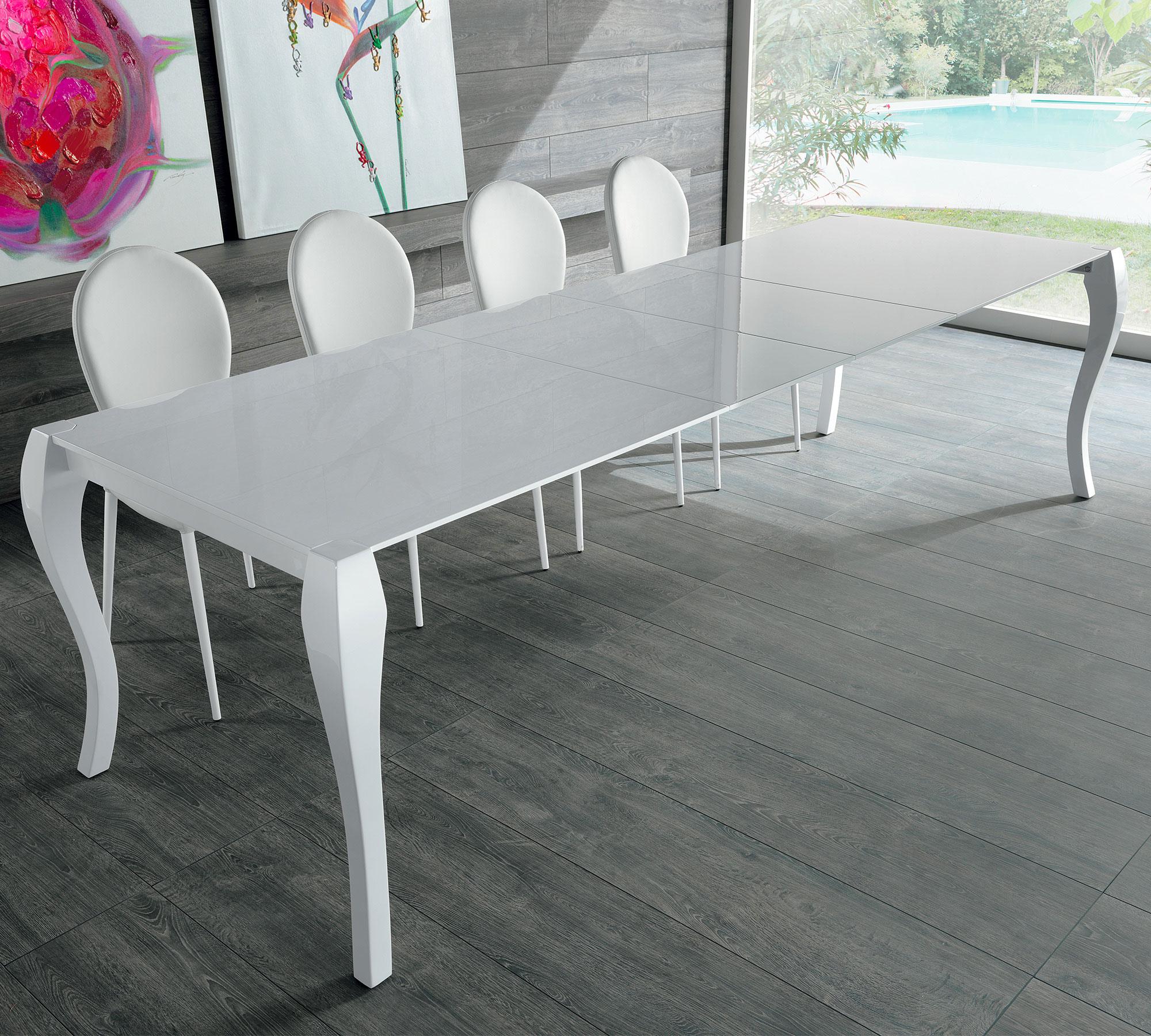 Tavolo allungabile shining bianco om 097 p duzzle for 2 metri quadrati di garage