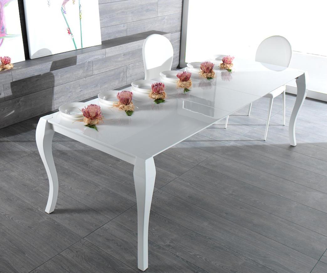 Tavolo Allungabile Laccato Bianco.Tavolo Allungabile Shining Bianco Om 097 A