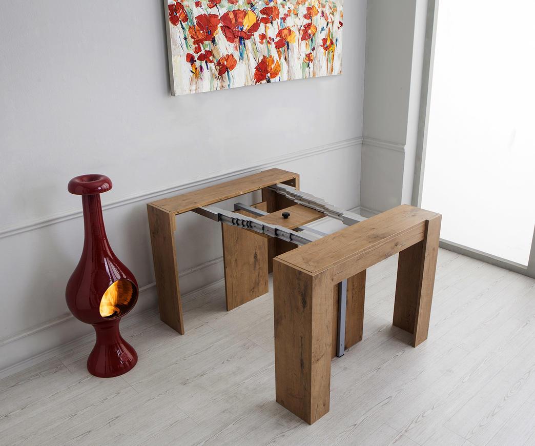 Tavolo consolle allungabile Adam rovere | Duzzle