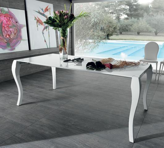 Duzzle tavolo allungabile legno colore bianco stones lato
